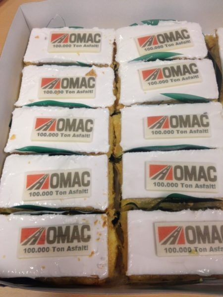 100.000 ton asfalt verwerking OMAC b.v.