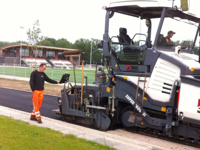 asfalteren terreinverharding nivo sparta