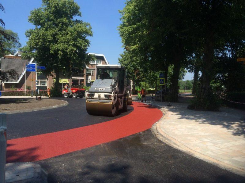Laatste asfalt sessie Bloemendaal